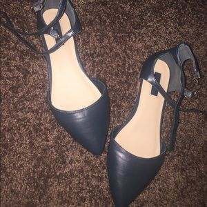 Forever 21 double buckle flats
